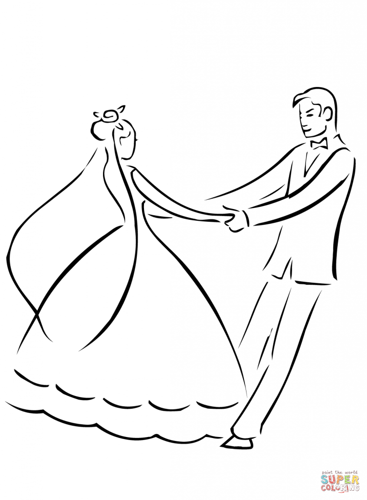 752x1024 Wedding Dance Coloring Page Download And Printable