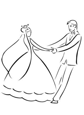 352x480 Wedding First Dance coloring page Free Printable Coloring Pages