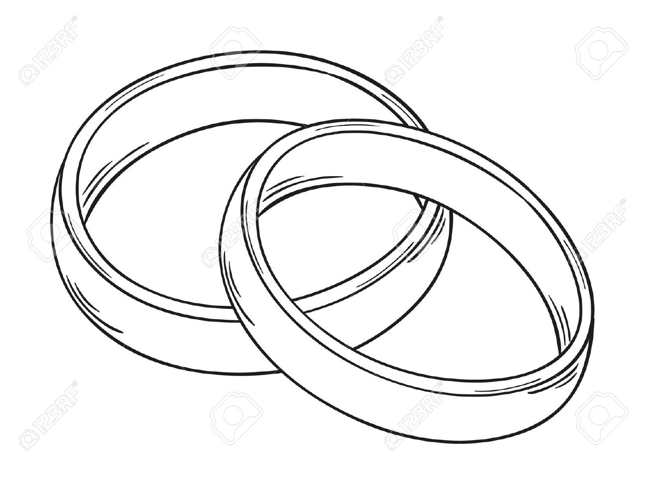 1300x973 Wedding Ring Drawing Wedding Rings How To Draw A Cartoon Diamond