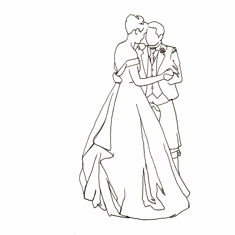 900x900 Personalised Wedding Dance Drawing By Love Lines