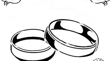 360x200 Elegant Drawing Wedding Rings Photo Collection