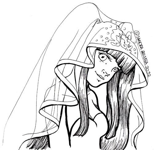500x487 Erika Furudo Wedding Dress Sketch By Demonhornz