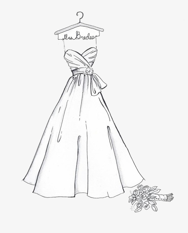 650x806 Hand Painted Wedding, Sketch, Wedding Dress, Dresses Png Image