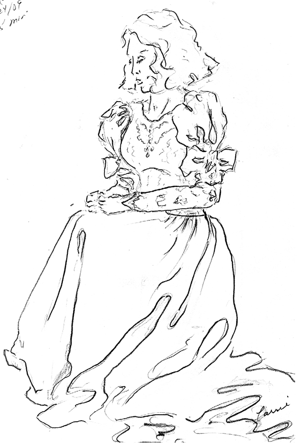 614x900 Life Drawing Pencil Sketches Of Woman In A Wedding Dress