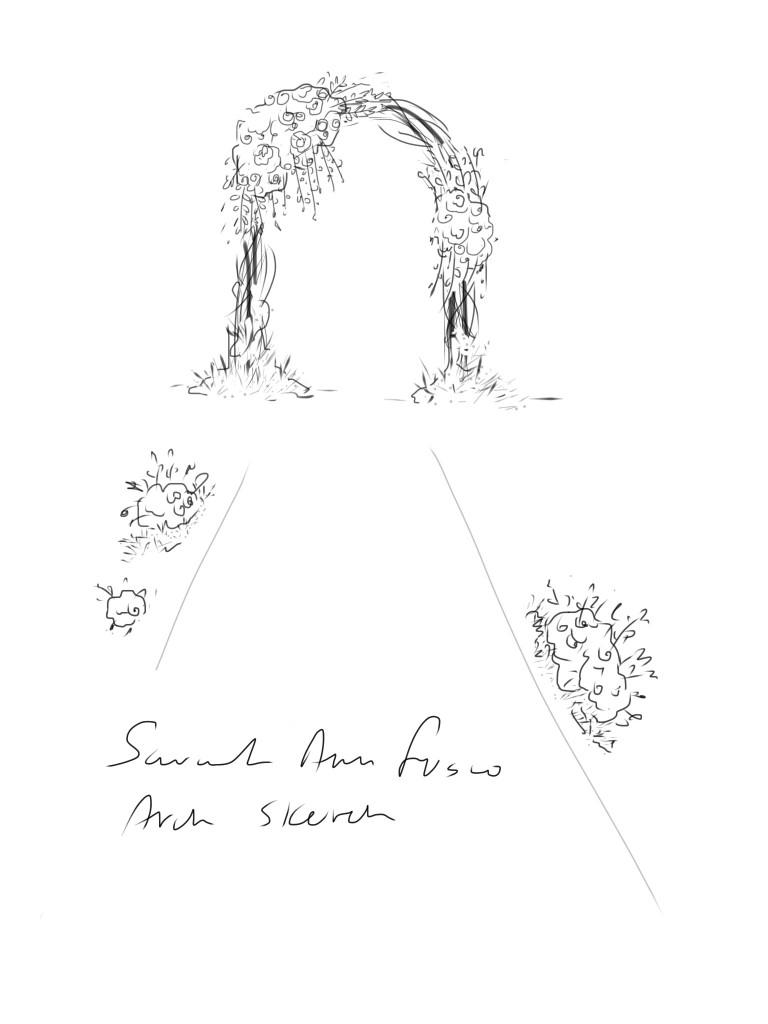 768x1024 Romantic Floral Arch