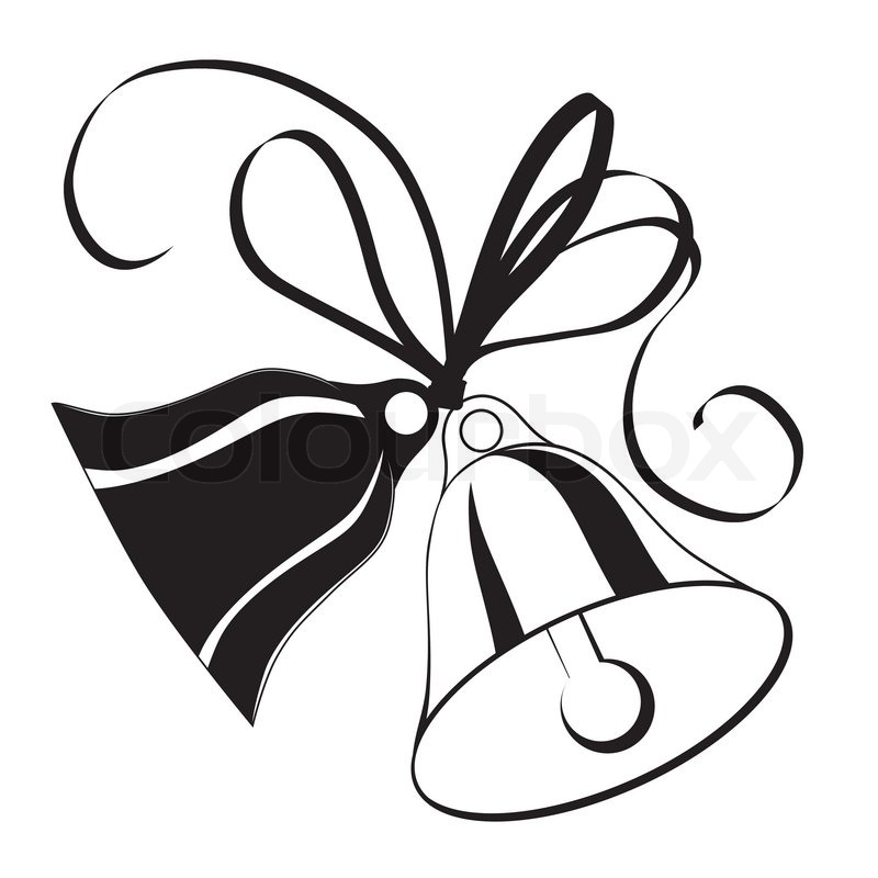 800x800 Bell Sketch Forchristmas Or Wedding With Icon, Element For Design