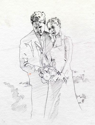 400x526 Wedding Sketch For Friend By Robhough