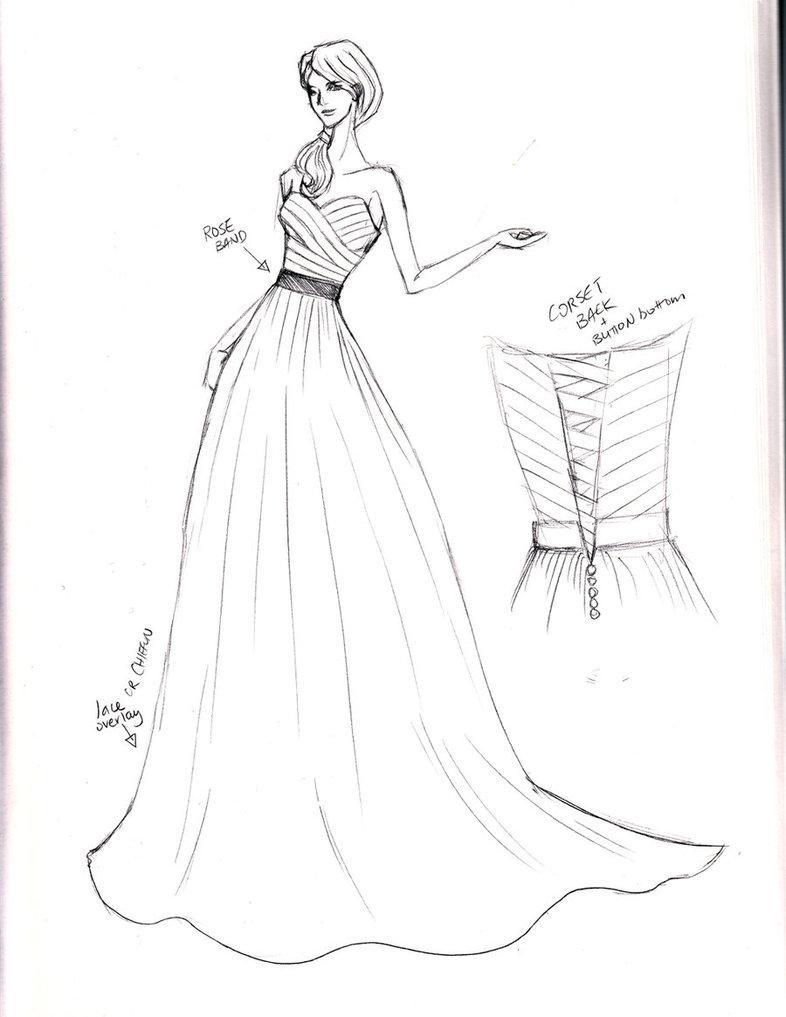 786x1017 Sketch Wedding Gown By Shushuwafflez