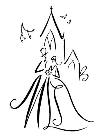355x480 Custom Bride Groom Line Drawing The Best Exterior In Bride