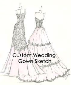 236x281 Custom Wedding Dress Sketch Lace Mermaid Wedding Dress By Ptsketch
