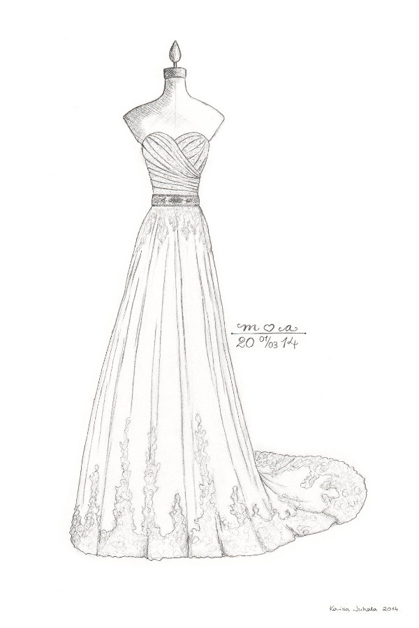 Wedding Dresses Drawing At Getdrawings Com Free For