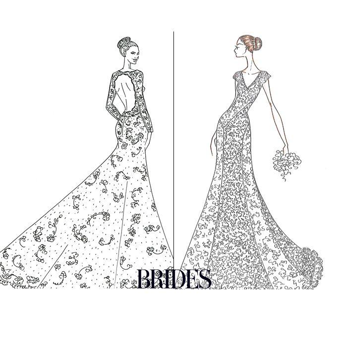 Wedding Dresses Drawing At GetDrawings