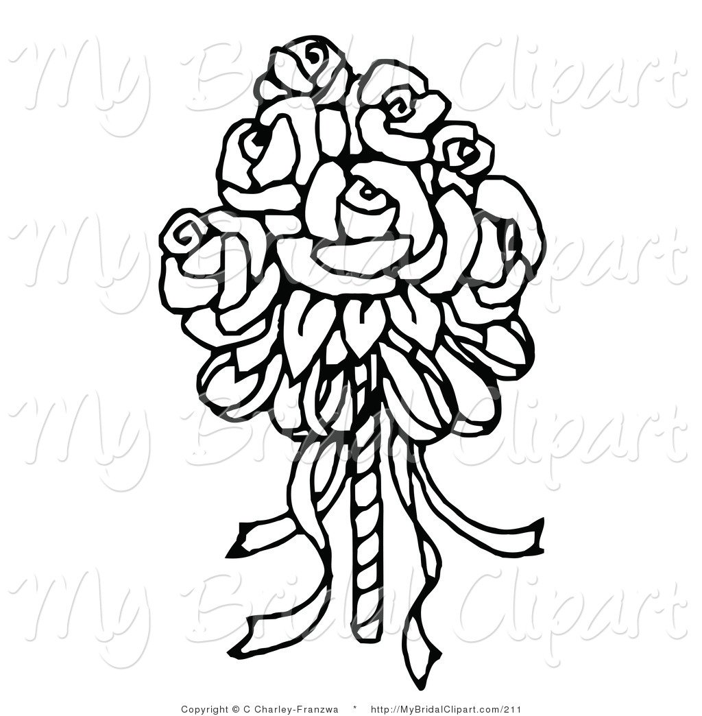 Wedding flowers drawing at getdrawings free for personal use 1024x1044 wedding flowers cartoon bridal clipart of a coloring page of a izmirmasajfo Images