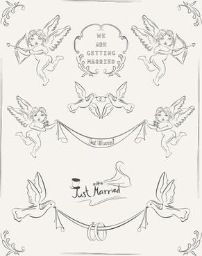 291x368 Romantic Wedding Invitation Card Template Free Vector Download