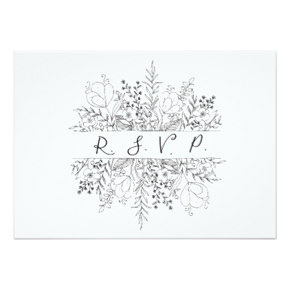 422x422 Spring Simplicity R.s.v.p Cards Rsvp, Party Gifts And Wedding