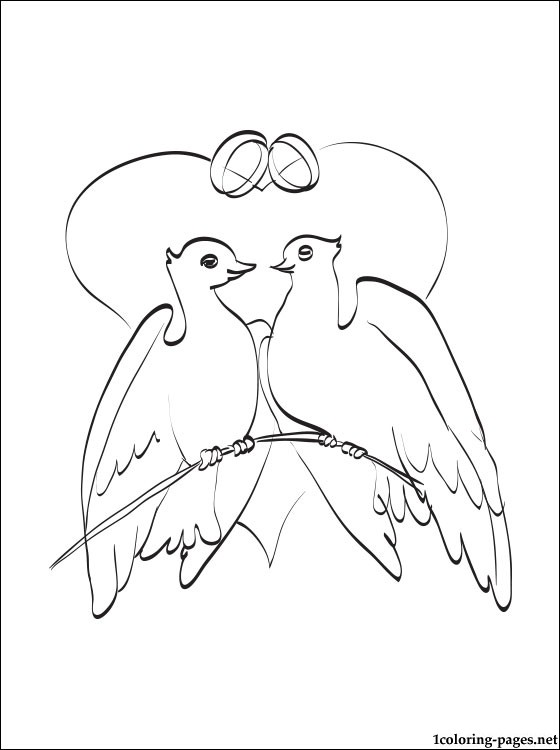 560x750 Wedding Doves Coloring Page Pages