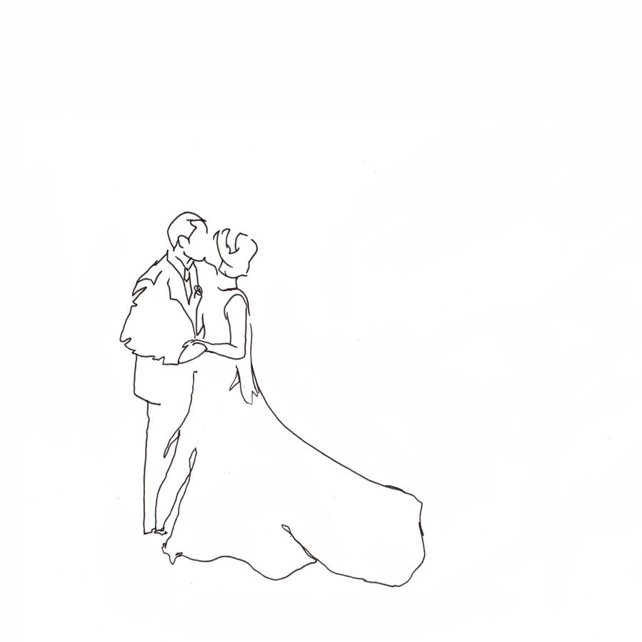 899x900 Personalised Wedding Kiss Drawing By Love Lines