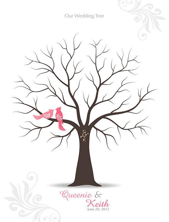 Wedding tree drawing at free for for Wedding tree guest book free template
