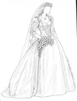 Wedding Veil Drawing