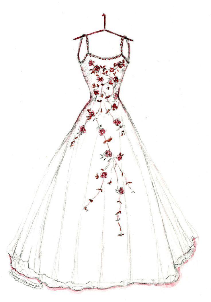 736x1050 53 Best Wedding Dress Drawings Images On Wedding Dress