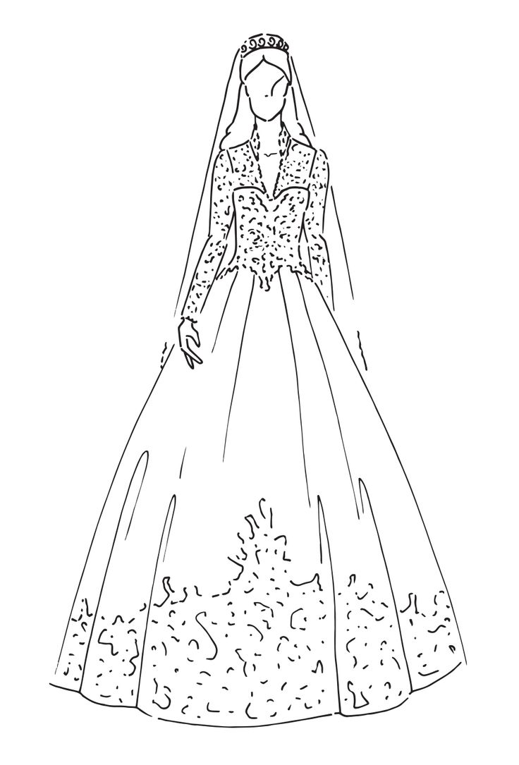 Wedding Veil Drawing at GetDrawings.com | Free for personal use ...