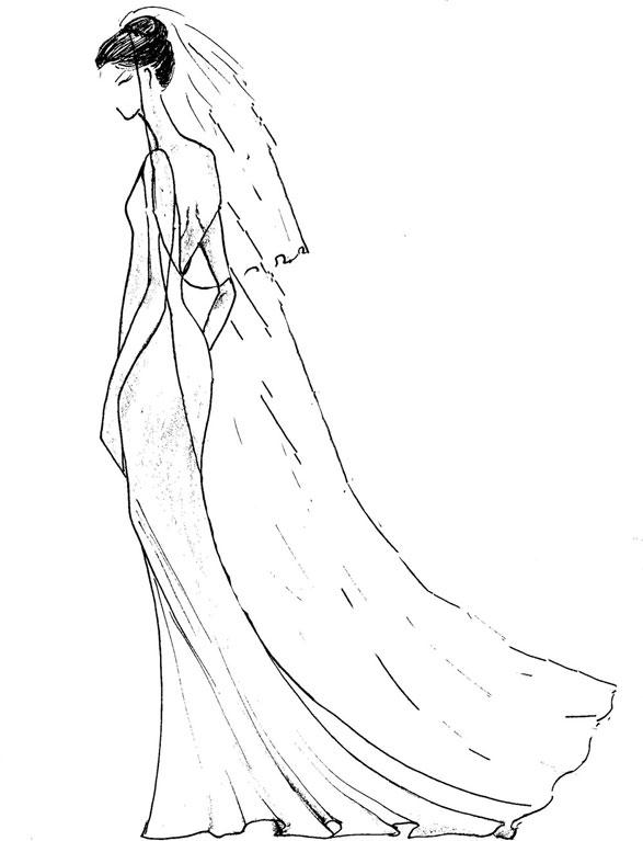 587x767 Floor Length Veil Vintage Style Wedding Dresses, Designer Bridal