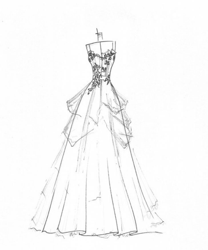 728x873 Wedding Dresses Drawings Regarding Your Home Preowned Wedding