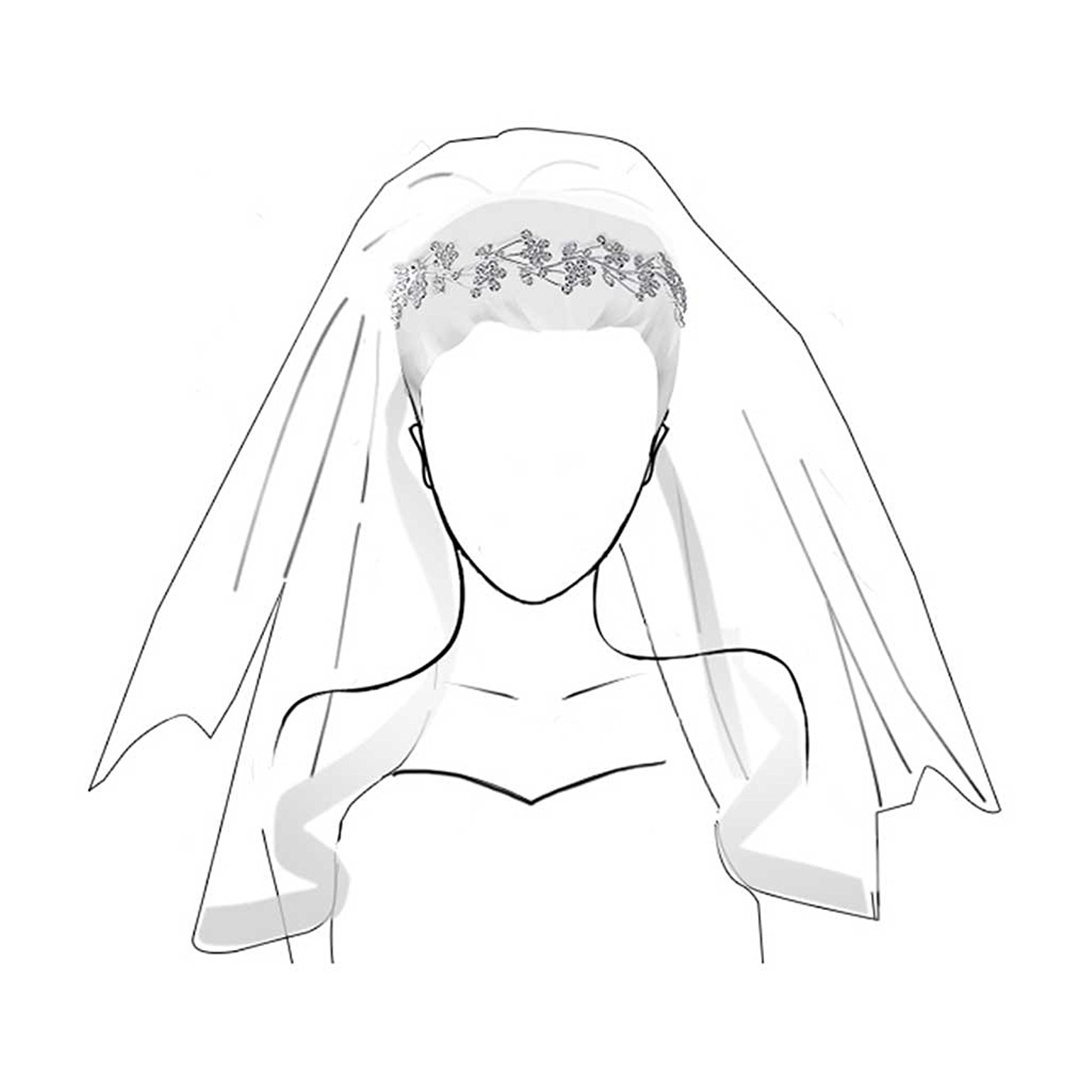 Wedding Veil Drawing At Getdrawings Com Free For