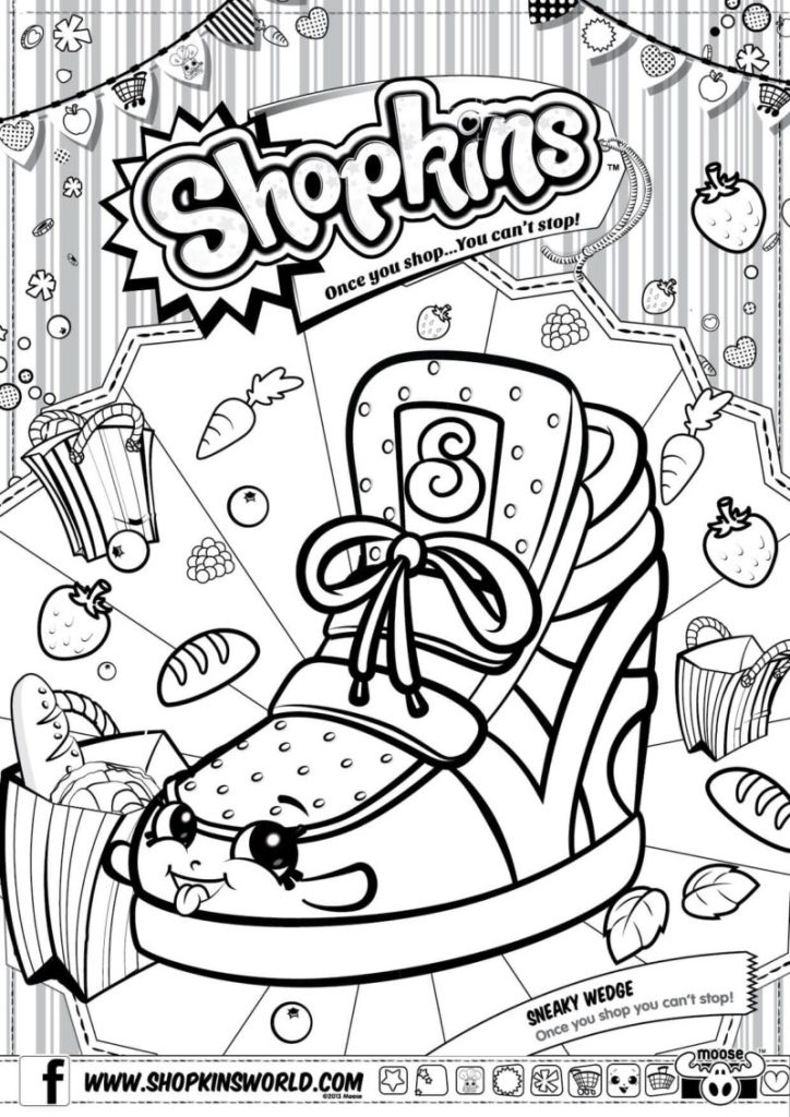 724x1024 Shopkins Coloring Pages Season 2 Sneaky Wedge Shopkins