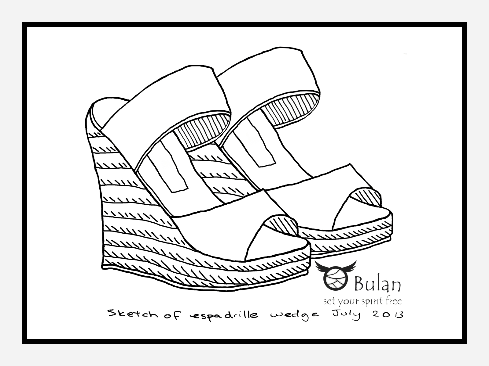 1600x1200 Sketch Of The Day No 92 Espadrille Wedges The Crazy Bag Lady