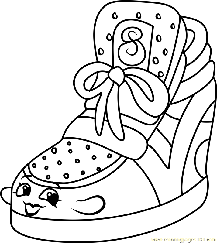 714x800 Sneaky Wedge Shopkins Coloring Page