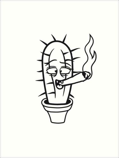 413x549 Cactus Pothead Weed Joint Drug Tuxedo Hemp Cannabis Bong Cigar