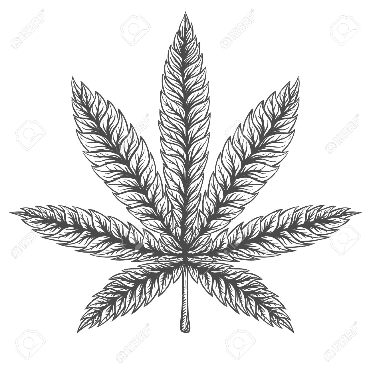 Weed Leaf Drawing at GetDrawings.com | Free for personal use Weed ...