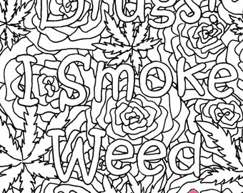 Weed leaf drawing at free for personal for Coloring pages weed