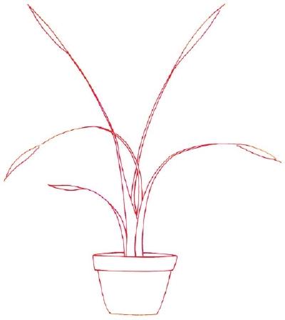 Weed Leaf Drawing Step By Step