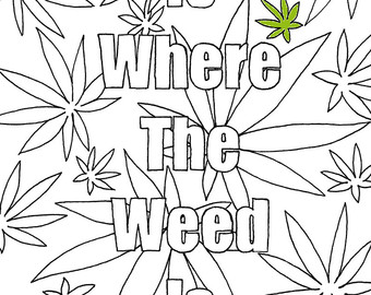 Weed leaf drawing step by step at free for Coloring pages weed