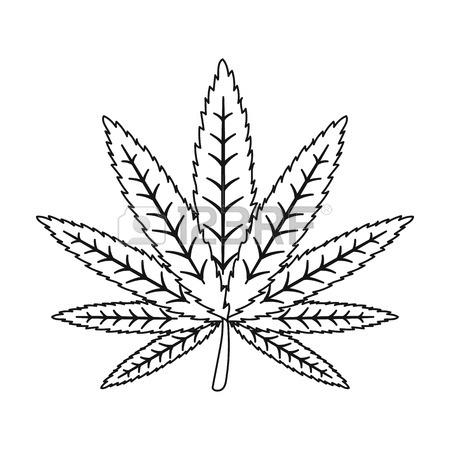 Weed Leaves Drawing