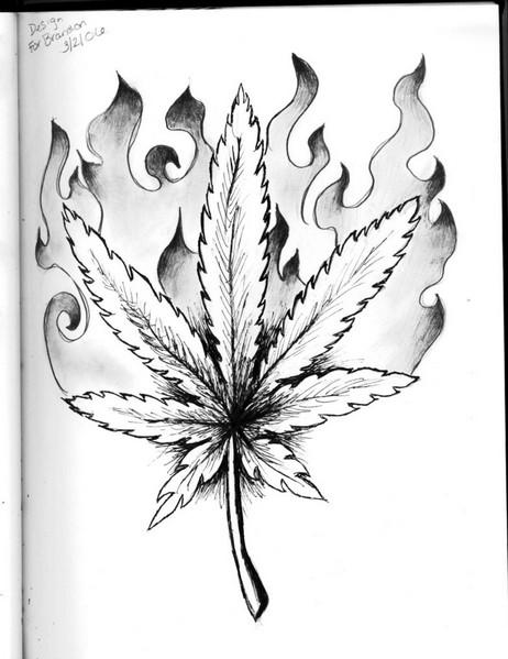 462x599 Gangster Drawings Of Weed Weed Leaf Drawing Tattoo Weed Lanabear