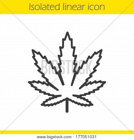 450x470 Marijuana Leaf Linear Icon. Thin Vector Amp Photo Bigstock