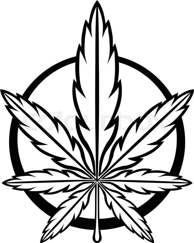 639x800 Stylized Green Marijuana Pot Weed Leaf Vector Logo Stock Vector