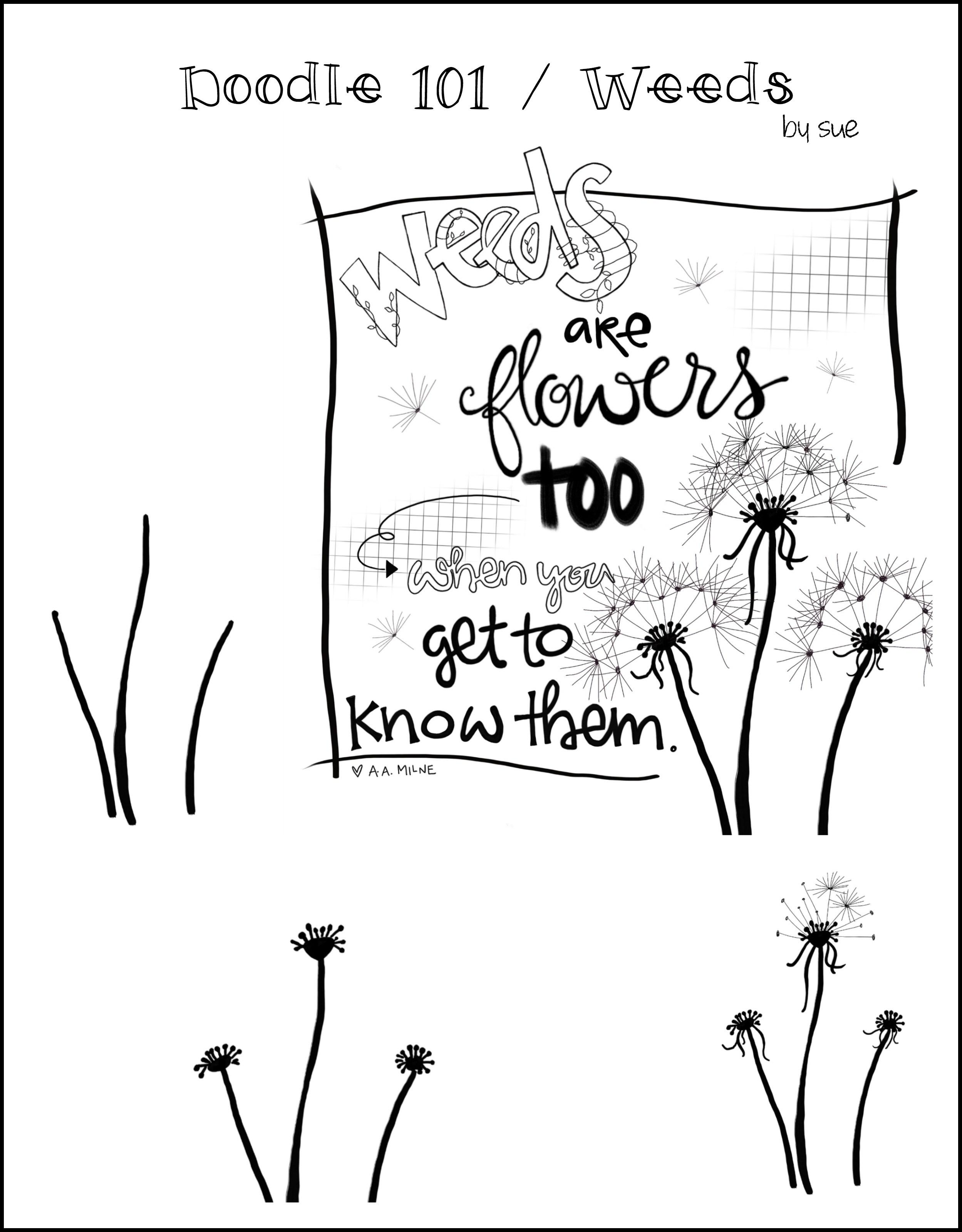 2498x3198 Doodle 101 Weeds 1arthouse