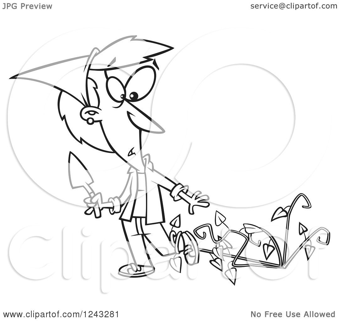 1080x1024 Clipart Of A Black And White Cartoon Woman Being Attacked By Bad