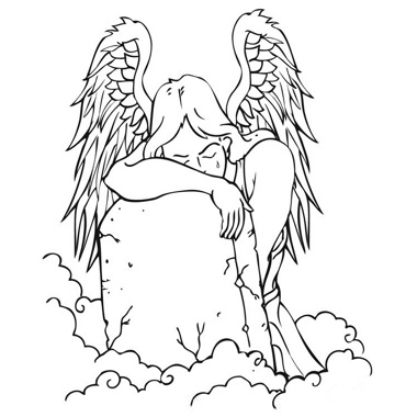 380x380 Weeping Angel On The Grave Tattoo