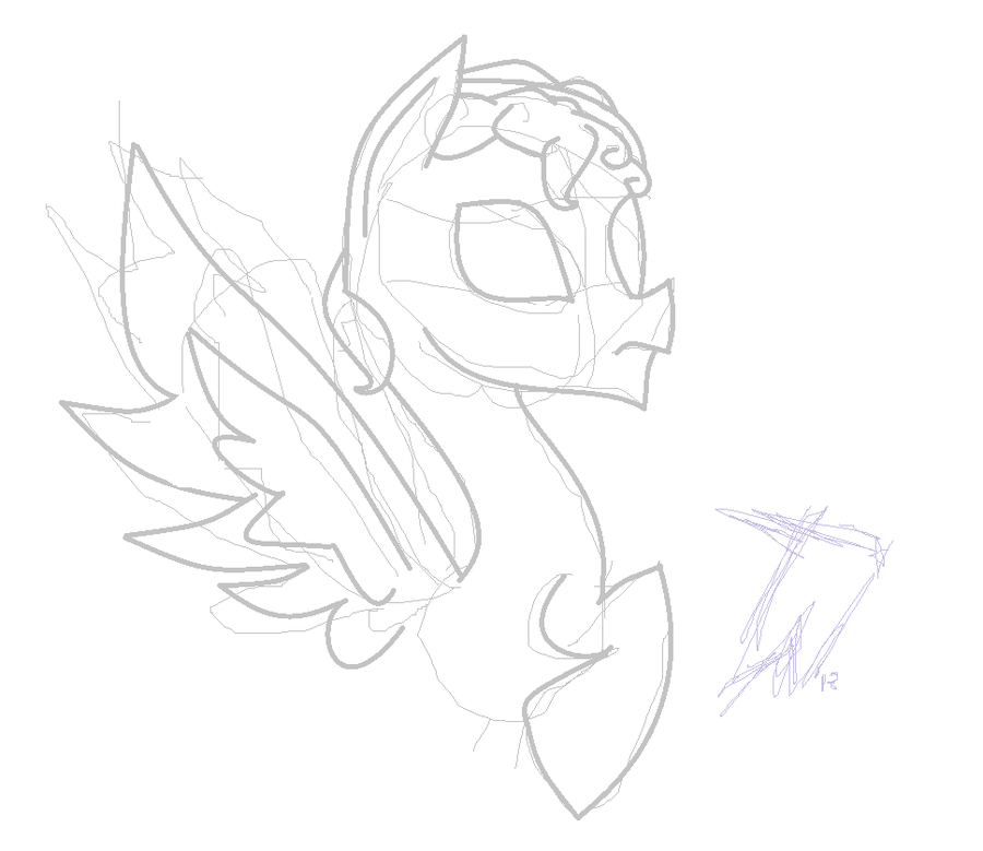 900x779 Weeping Angel Pony My Sketch By Ticky Tacky Pond