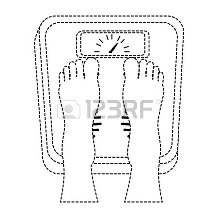 450x450 Feet With Scale Weight Measure Icon Vector Illustration Design