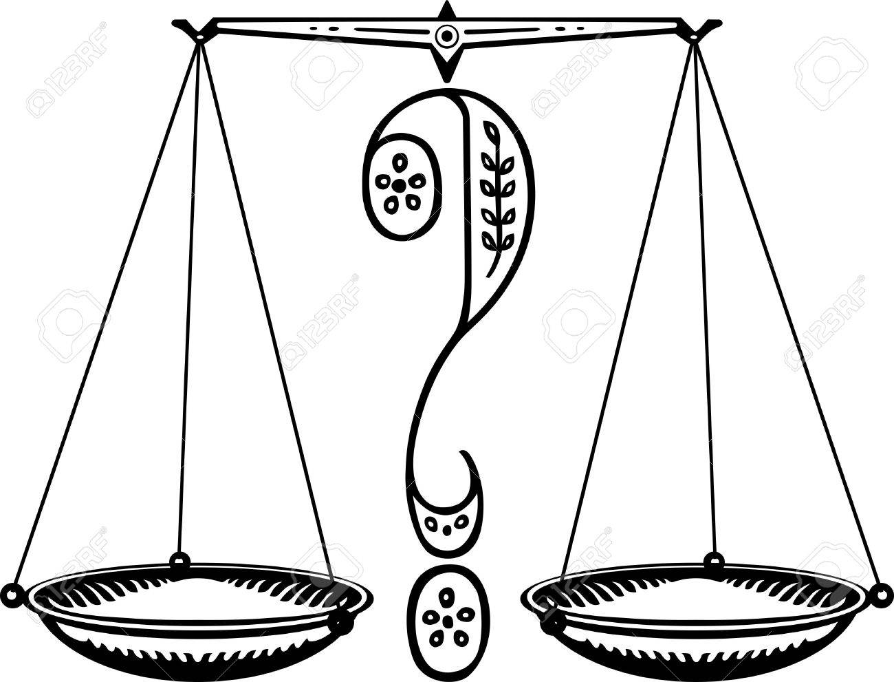 1300x991 Question Weighing Scales Royalty Free Cliparts, Vectors, And Stock