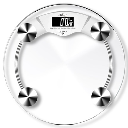 430x430 33cm Diameter Electronic Transparent Weight Scale Human Scale