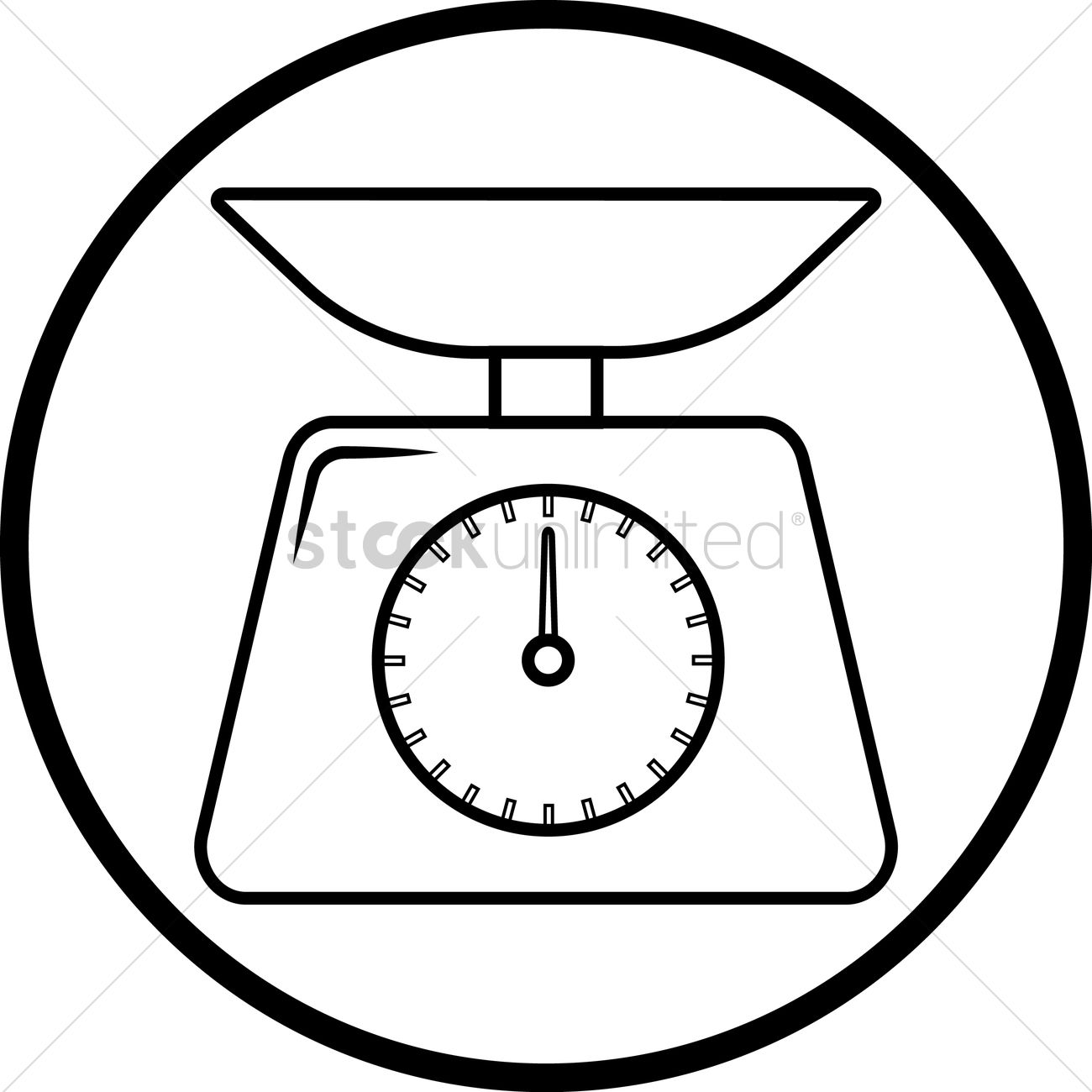 1300x1300 Weighing Scale Vector Image