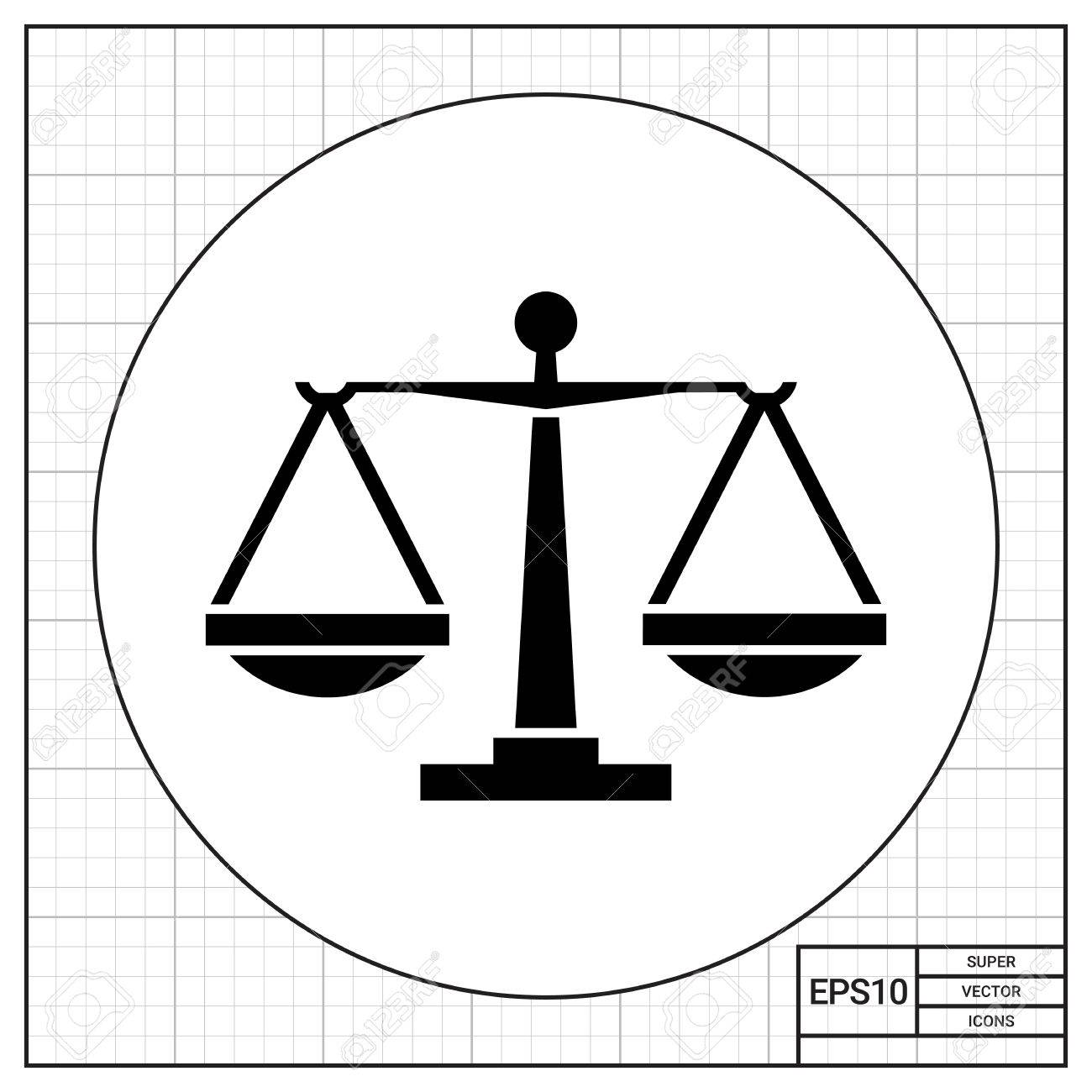 1300x1300 Balance Scales. Judgment, Equality, Weighing. Justice Concept