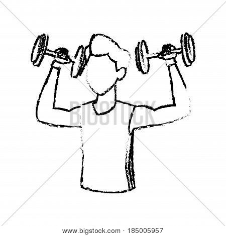 450x470 Sketch Man Weight Lifting Exercise Vector Amp Photo Bigstock